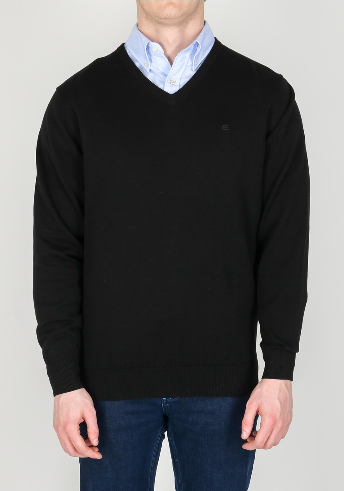 Casa Moda Mens V-neck Knitwear, Black