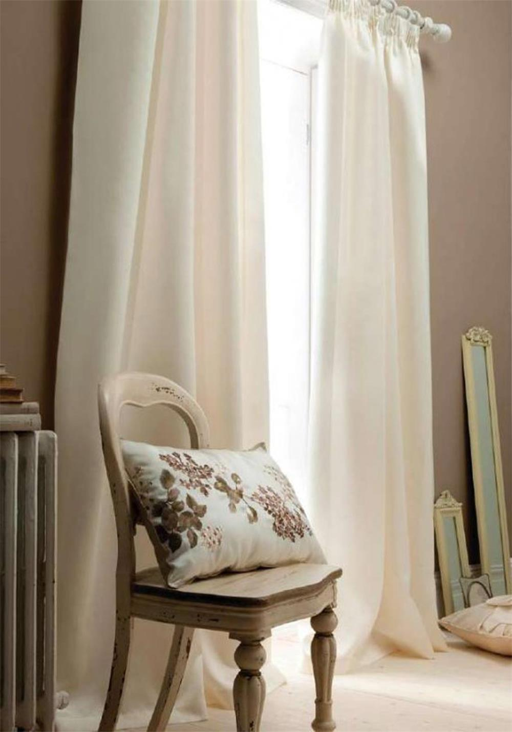 Catherine Lansfield Fully Lined Readymade Eyelet Curtains, Cream