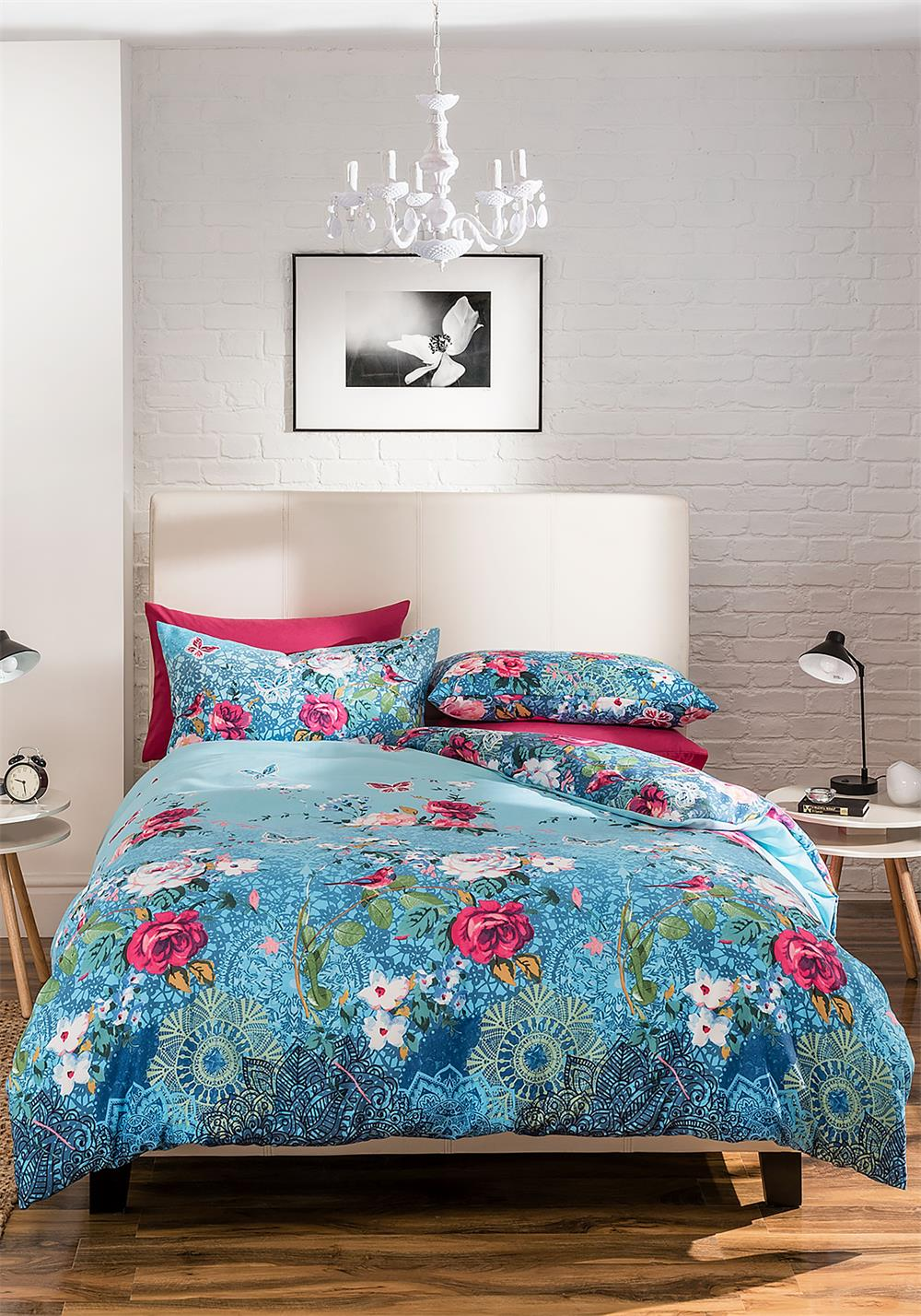 Catherine Lansfield & Home Floral Garden Duvet Cover Set, Blue