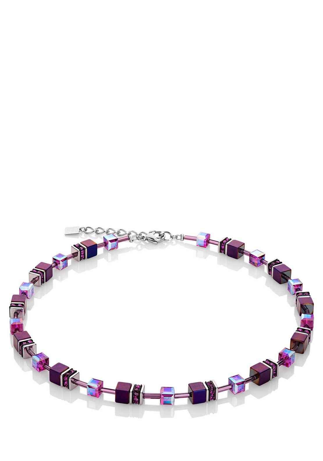 Coeur de Lion Geo Cube Collier Necklace, Purple