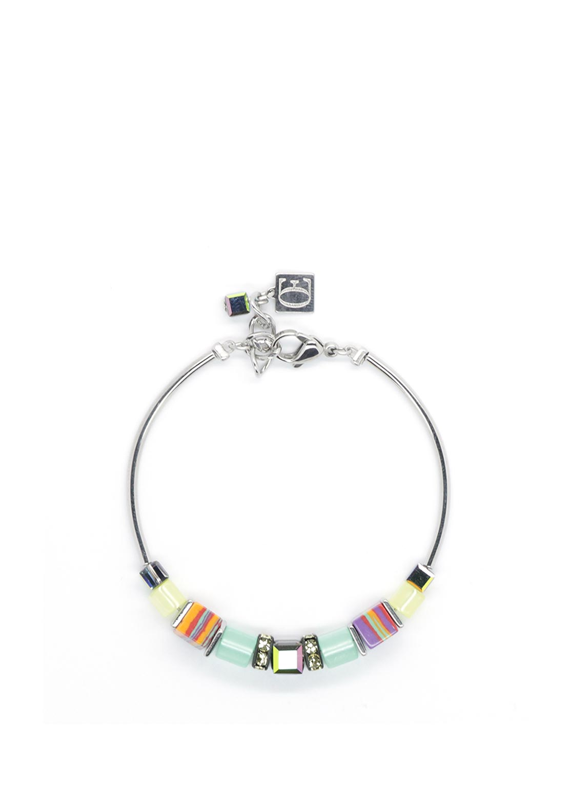 Coeur de Lion Geo Cube Bracelet, Mint-Yellow