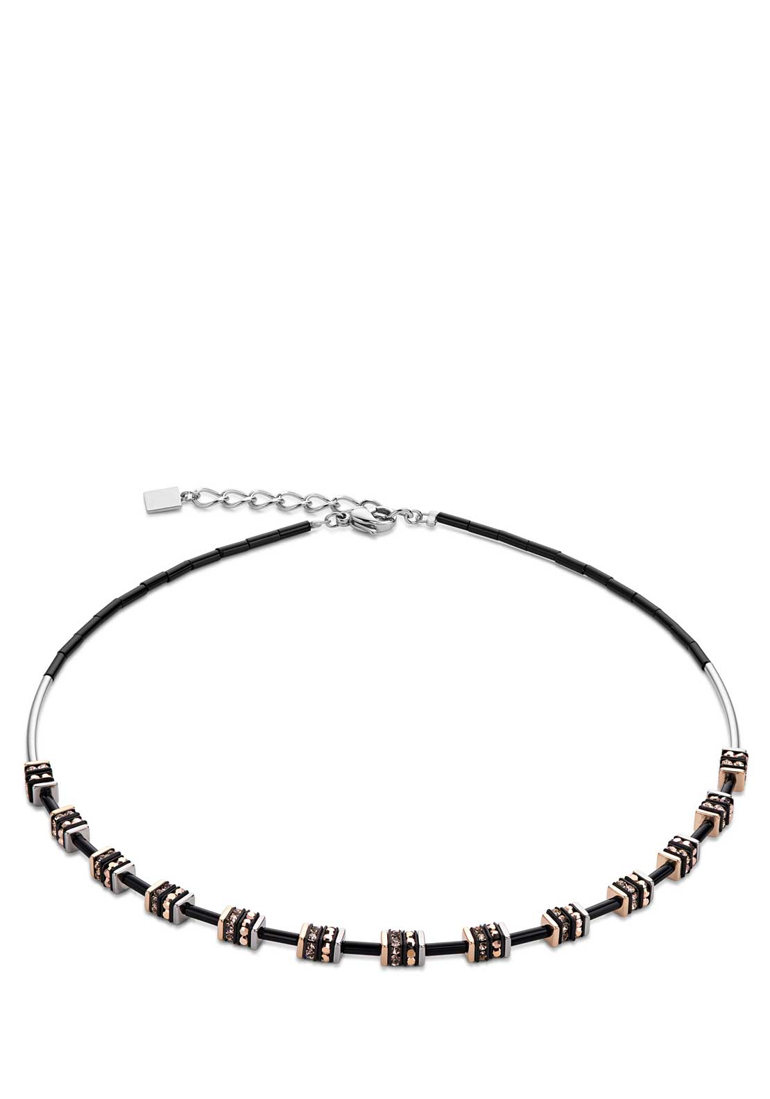 Coeur de Lion Geo Cube Collier Necklace, Rose Gold