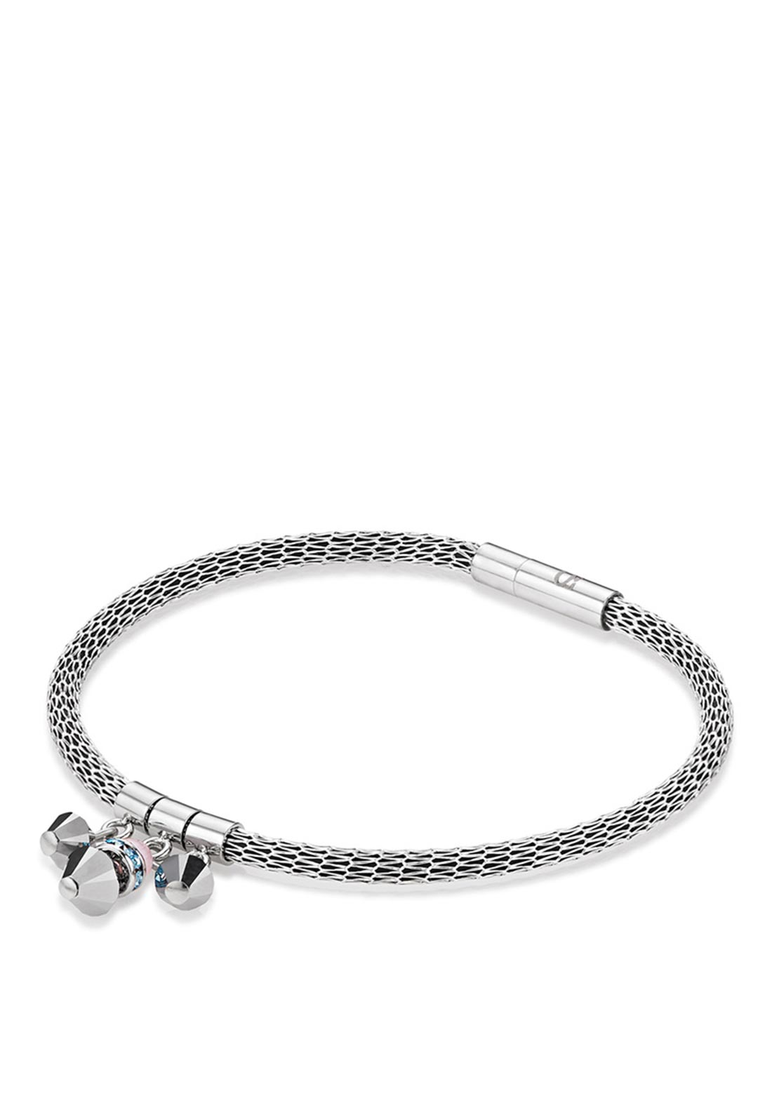 Coeur de Lion Swarovski Crystal and Mesh Bracelet, Multicolour Pastel