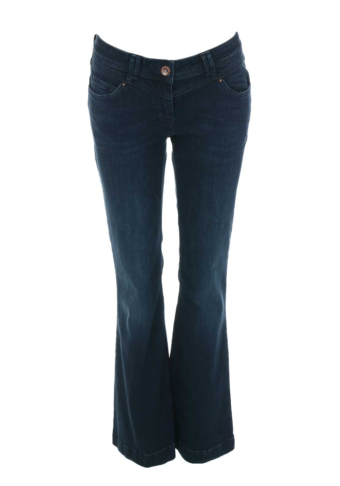 Cecil Charlize Flared Bootcut Jeans, Dark Blue