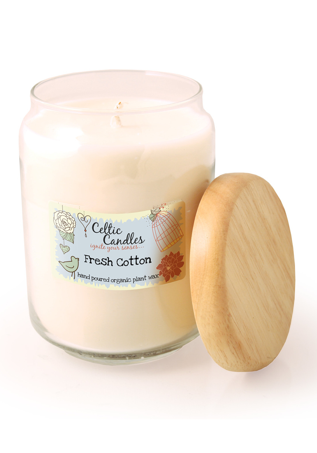 Celtic Candles Large Fresh Cotton Candle Jar, 650ml