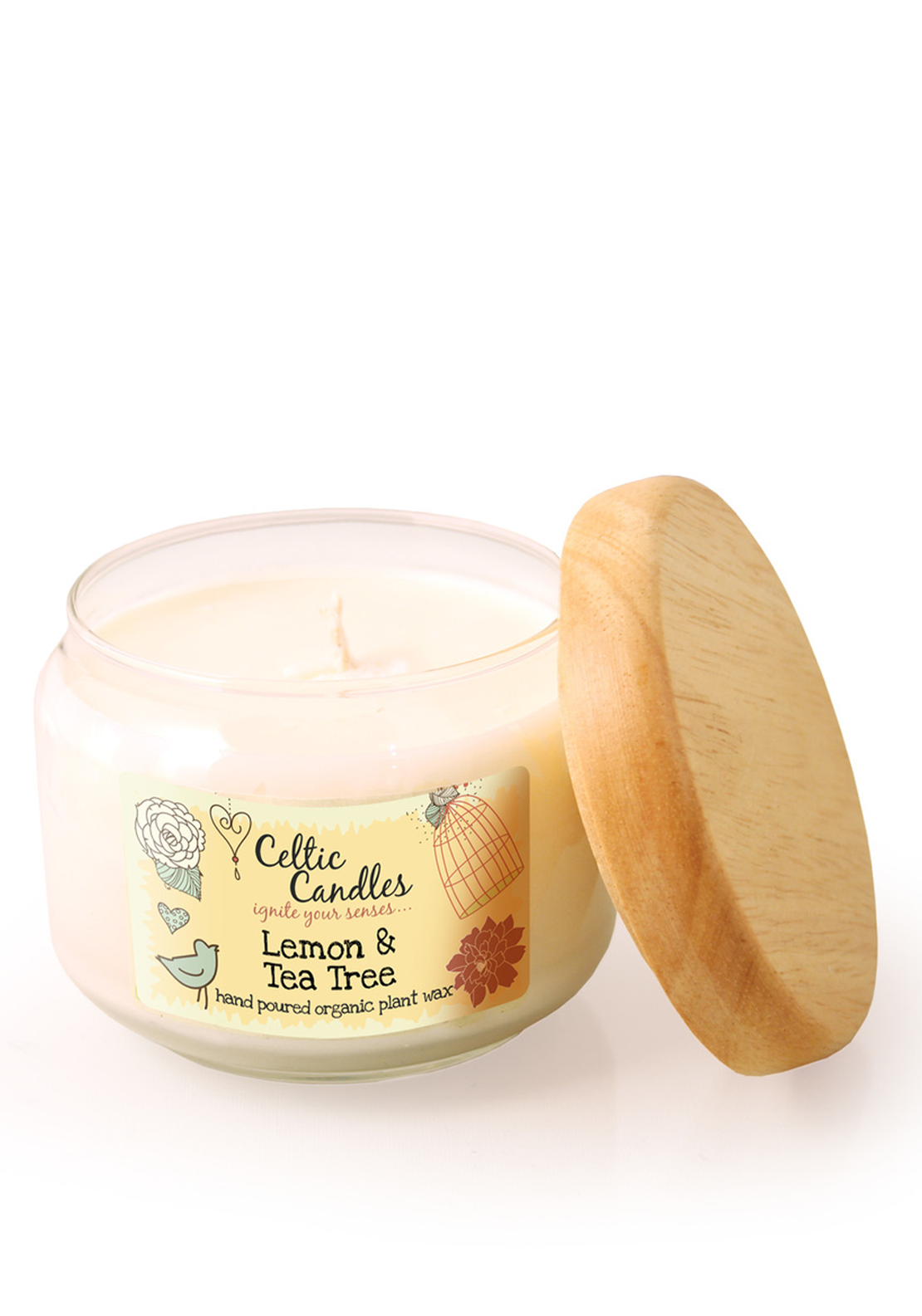 Celtic Candles Medium Lemon & Tea Tree Candle Jar, 325ml