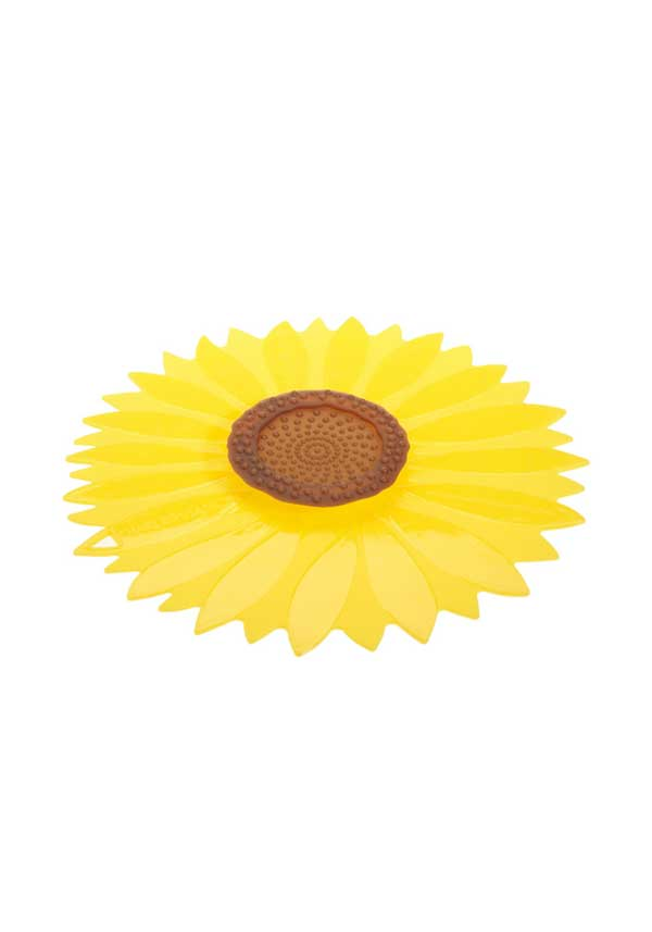 Charles Viancin Yellow Sunflower Medium Silicone Lid, 9""