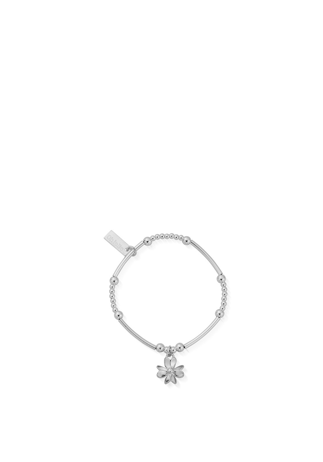 ChloBo Children's Cute Mini 3D Flower Bracelet, Silver