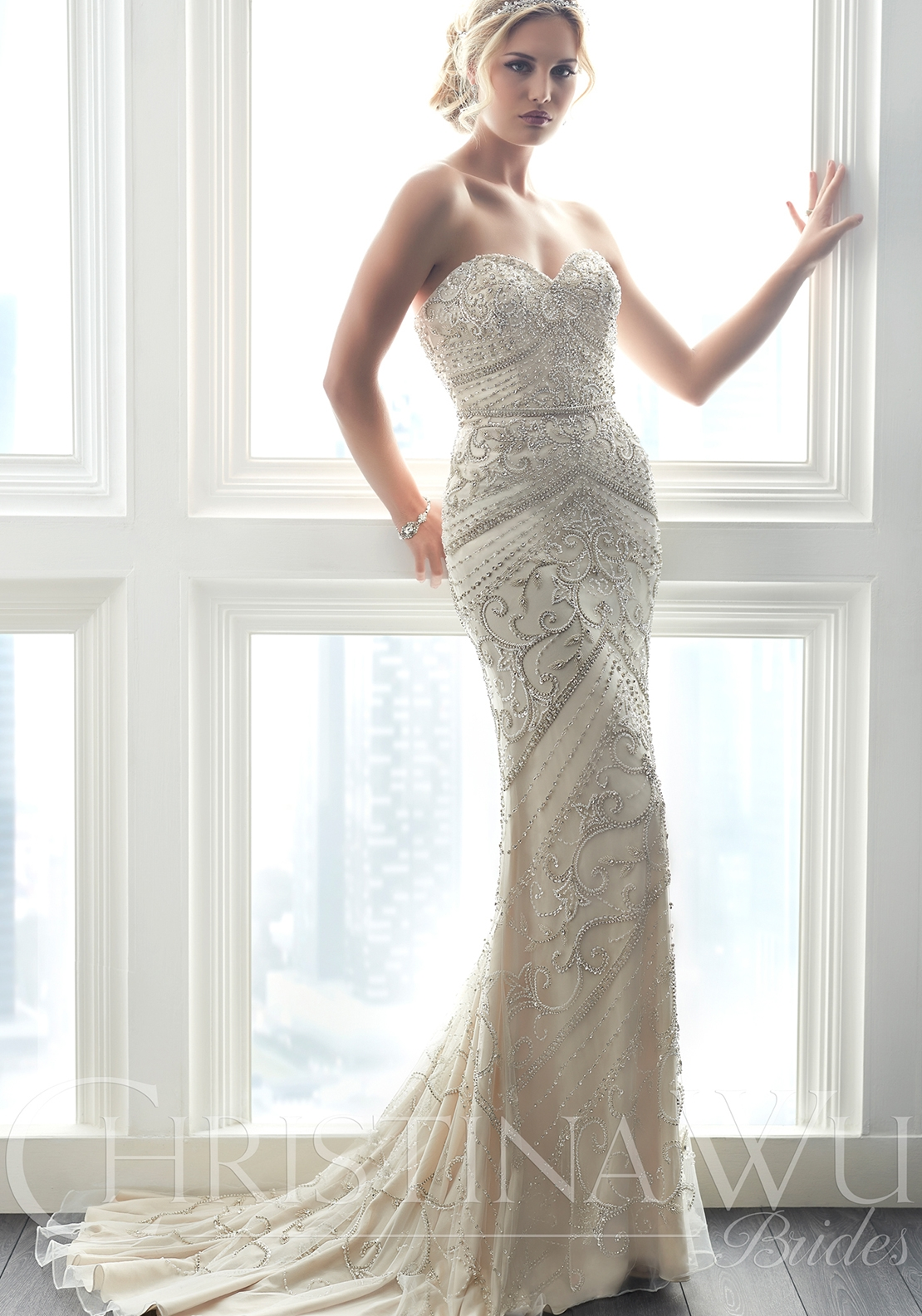 Christina Wu 15615 Wedding Dress UK Size 14
