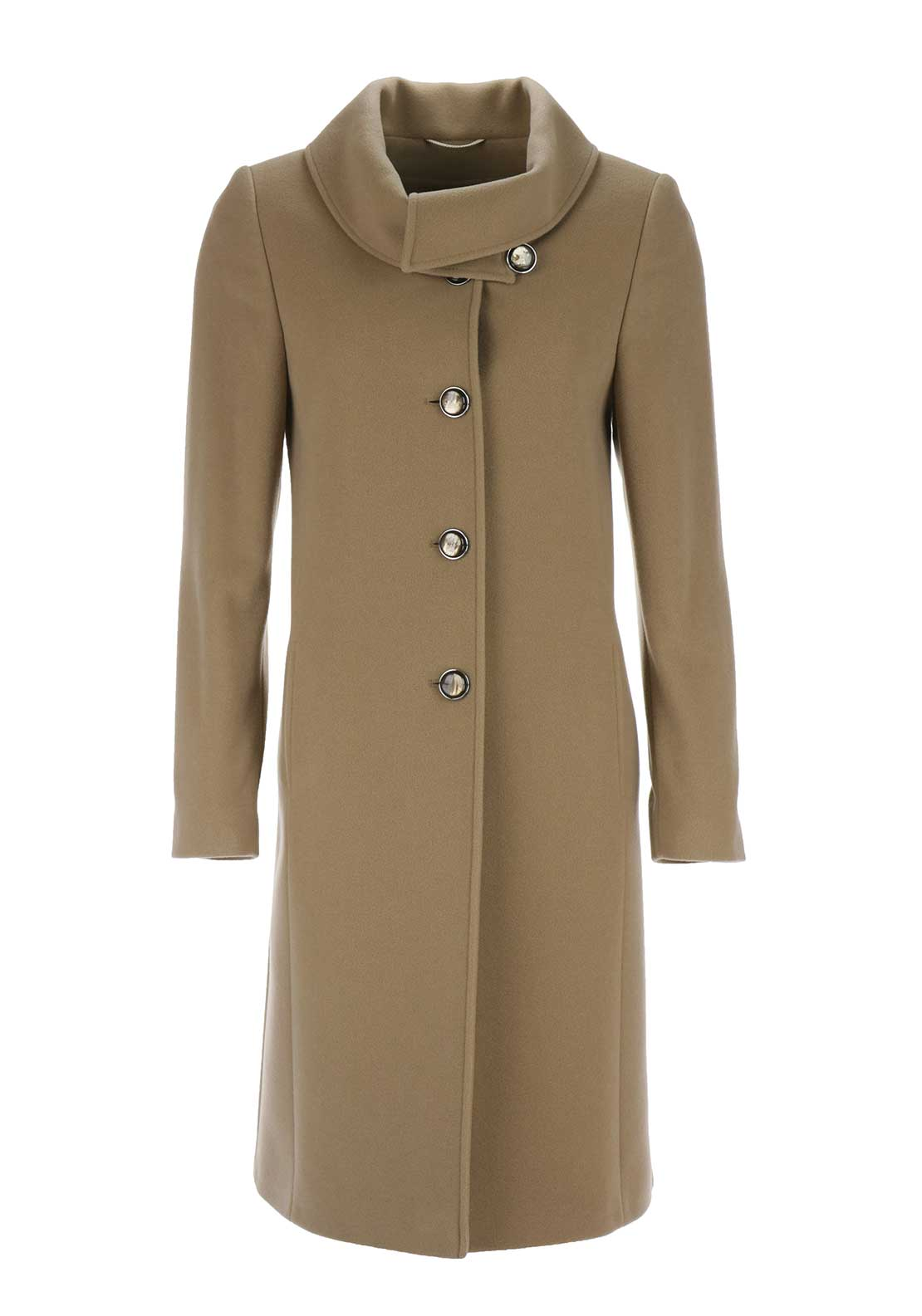 Christina Felix Shawl Collar Wool Coat, Camel