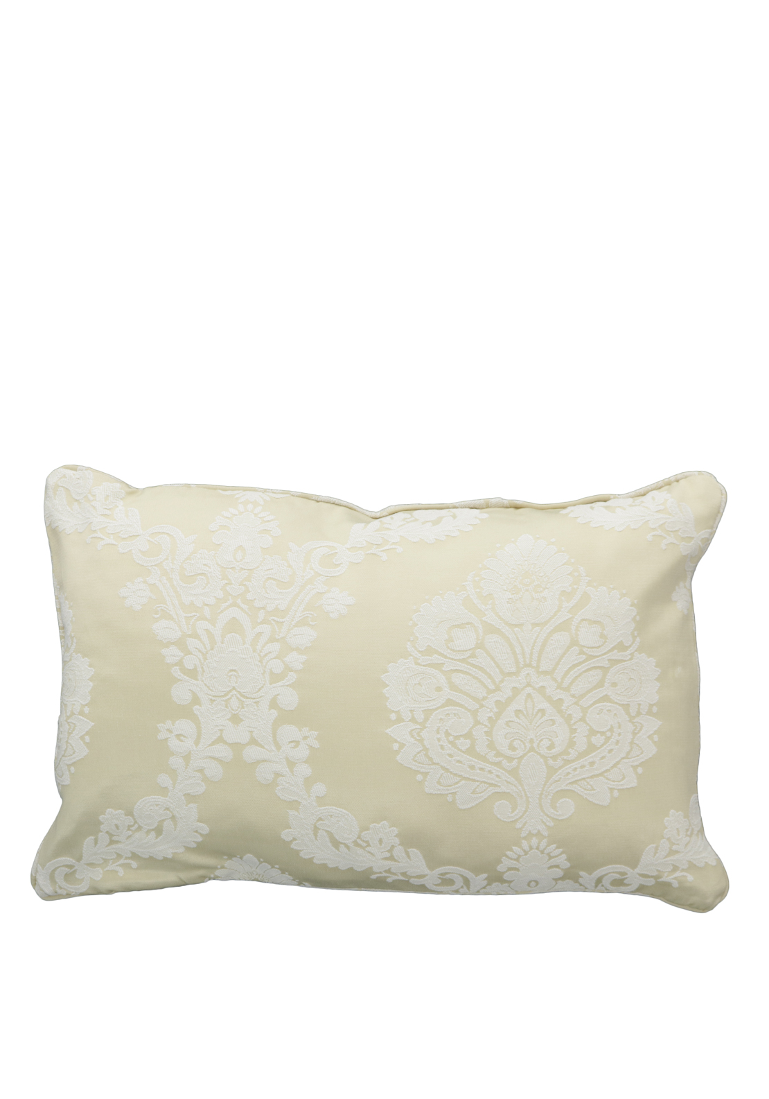 Christy Romeo Brocade Print Cushion, Gold