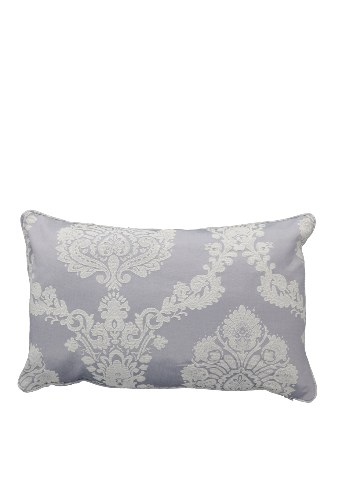 Christy Romeo Brocade Print Cushion, Lavender Grey