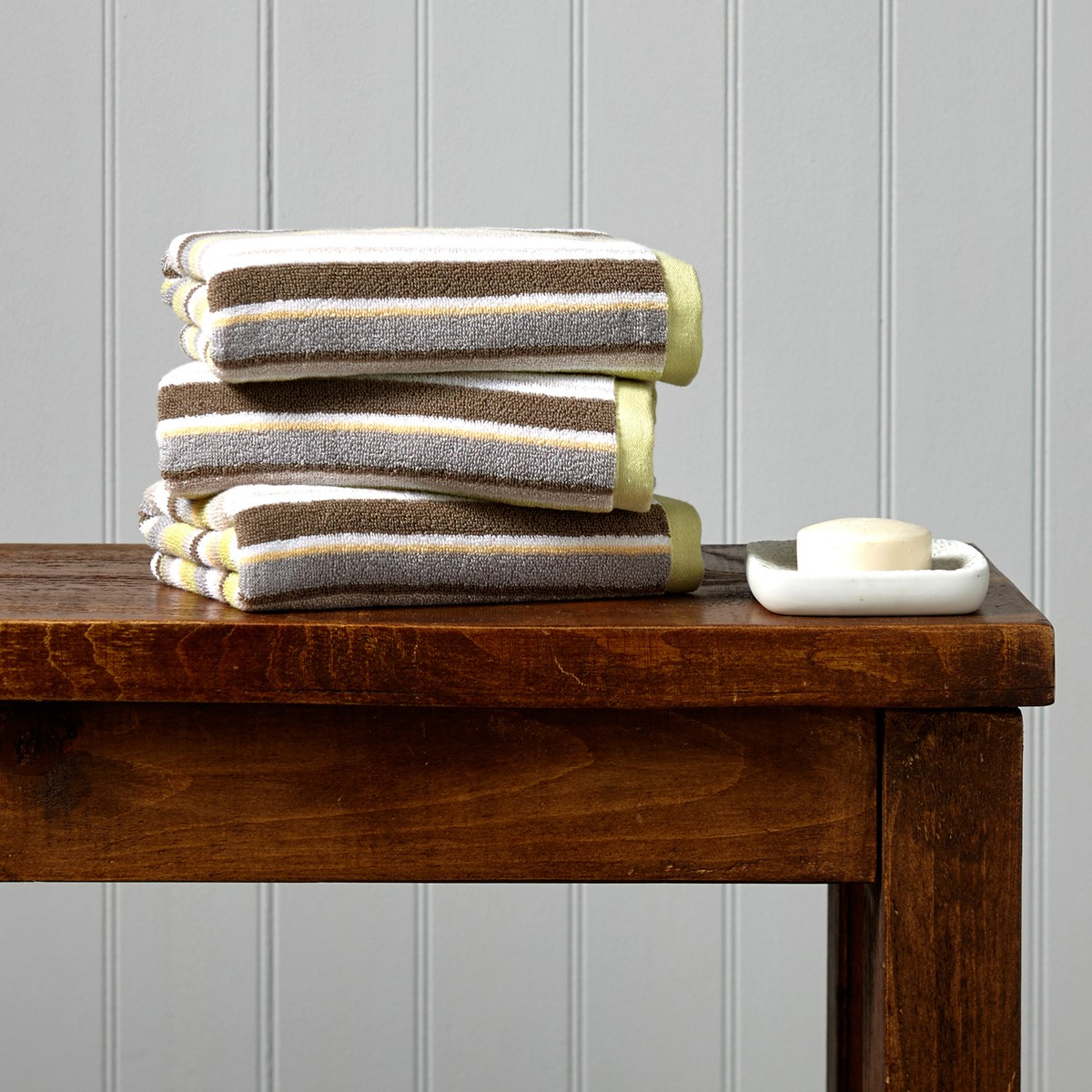 Christy Portobello Stripe Towel Range, Lime