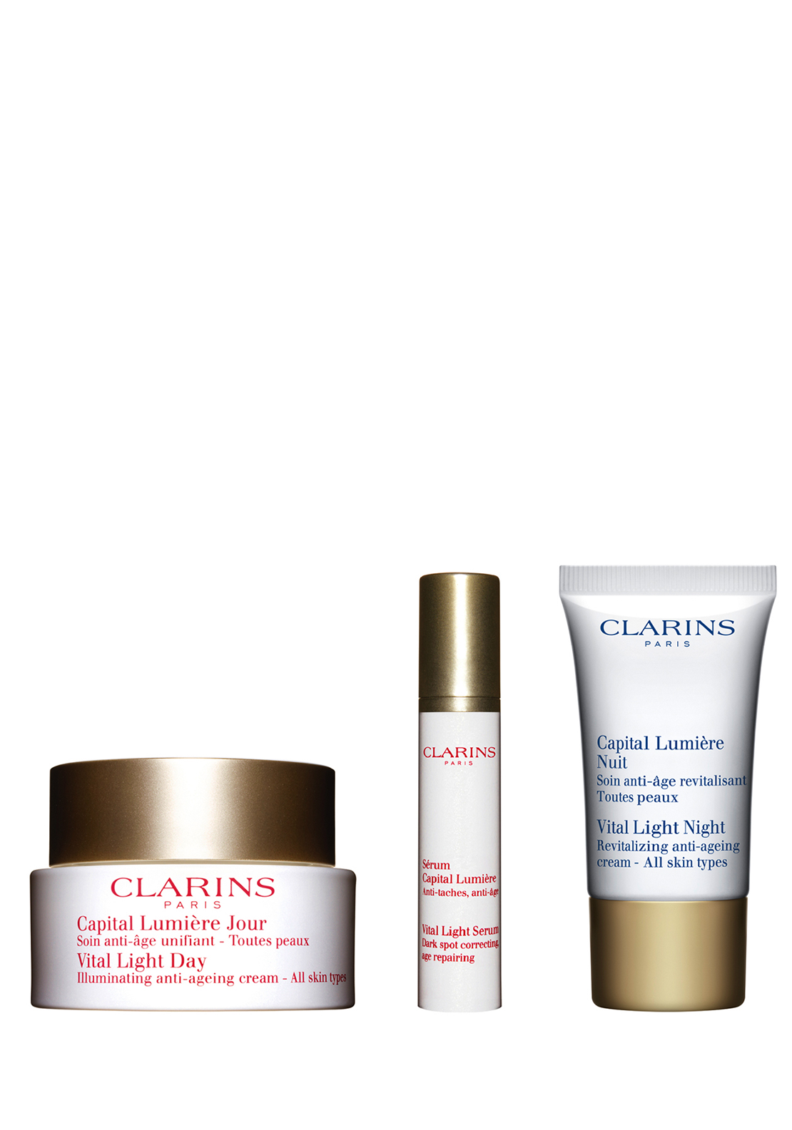Clarins Beautiful at 50: Vital Light Essentials Set – All Skin Types