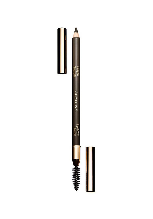 Clarins Long Wear Eyebrow Pencil, 01 Dark Brown