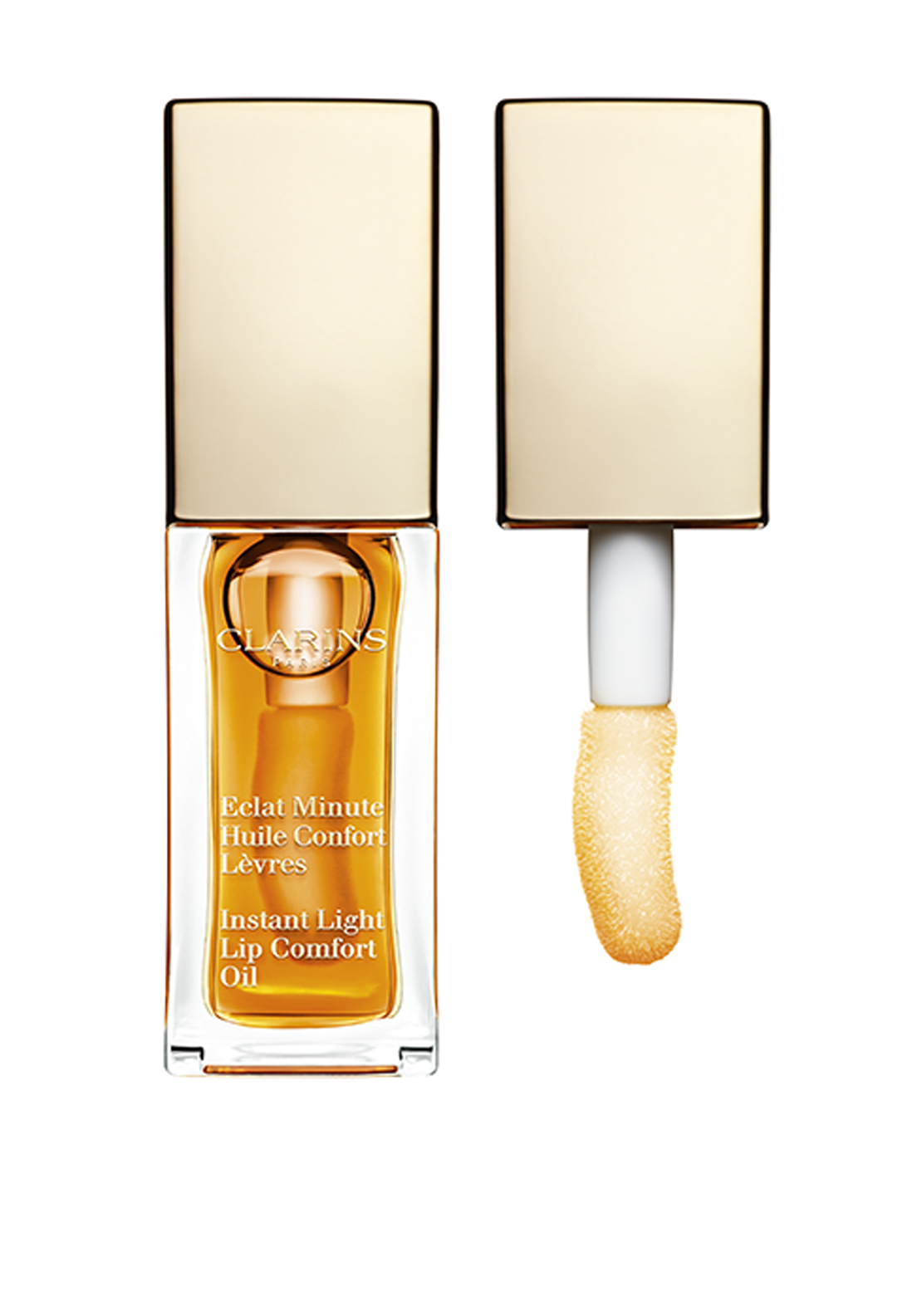 Clarins Eclat Minute Instant Light Lip Comfort Oil, 01 Honey