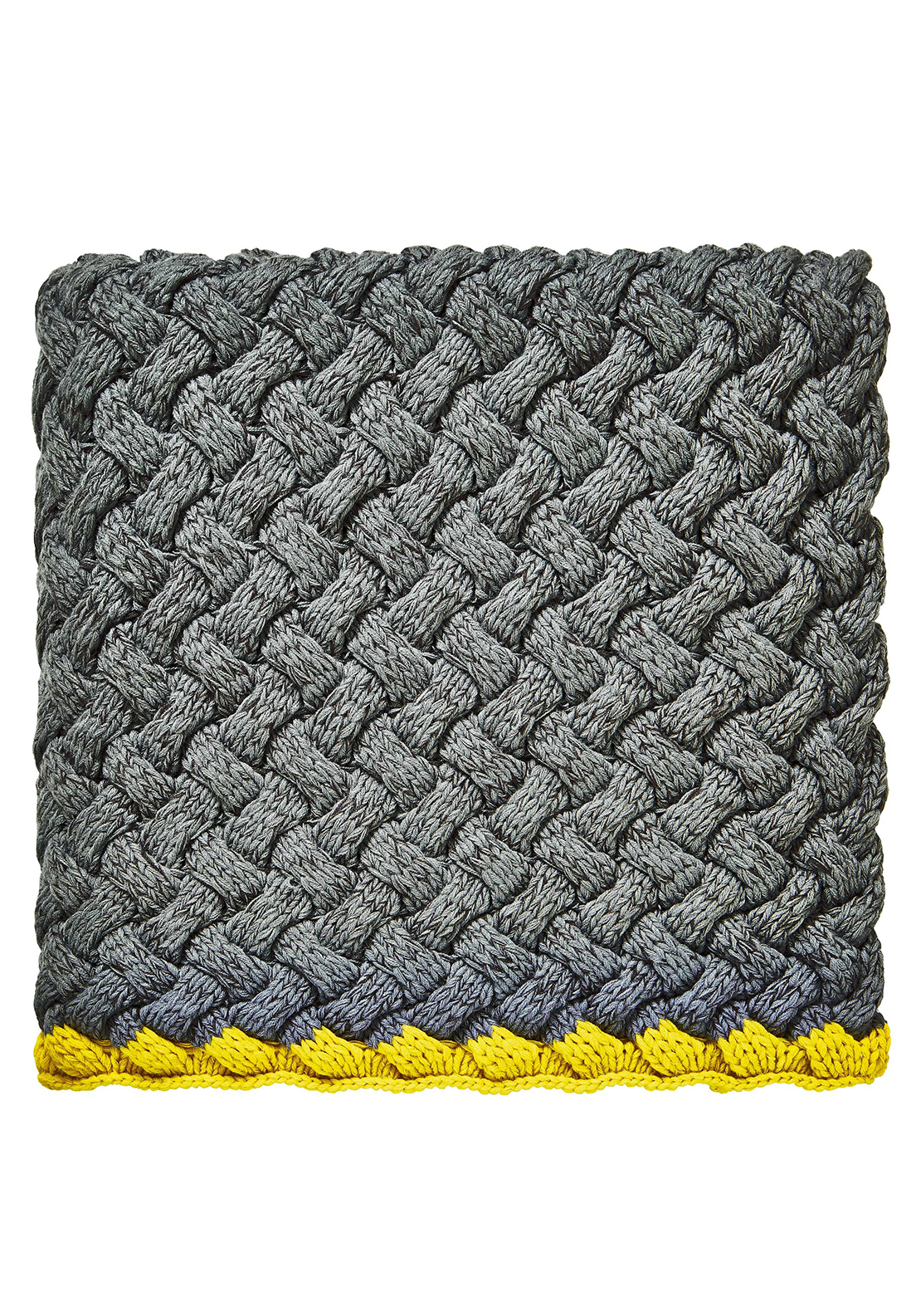 Clarissa Hulse Meadow grass Charcoal Knitted Throw