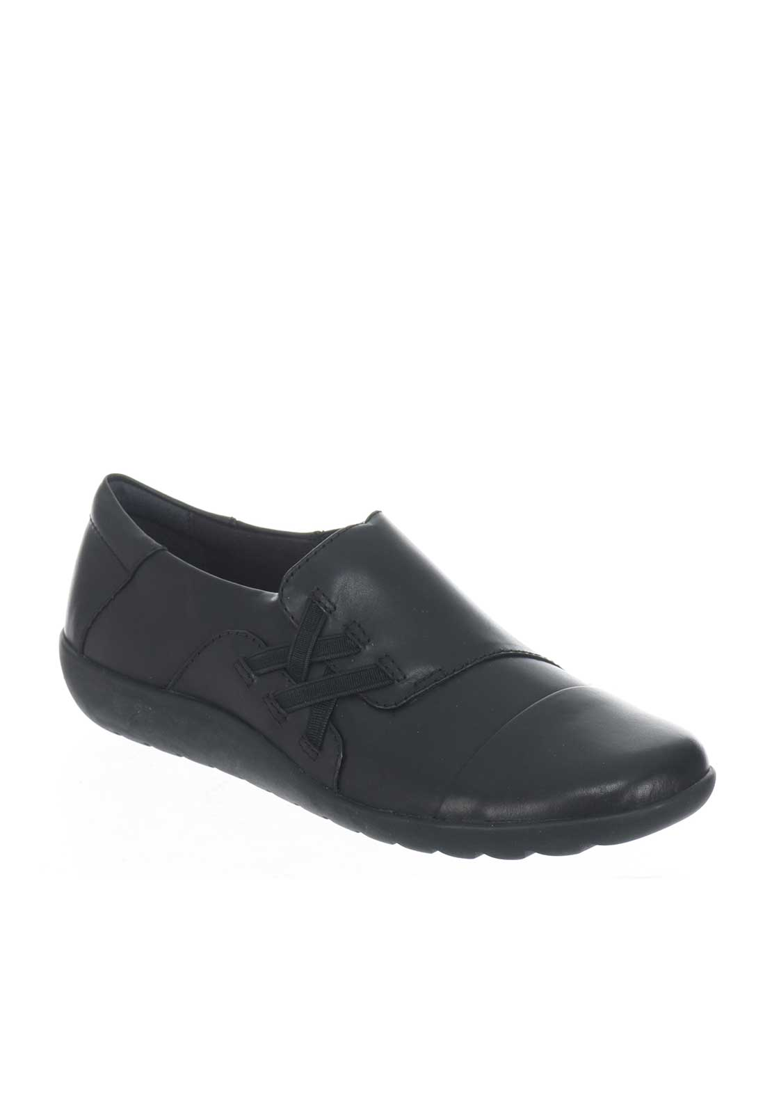 Clarks Womens Medora Sandy Leather Shoes, Black