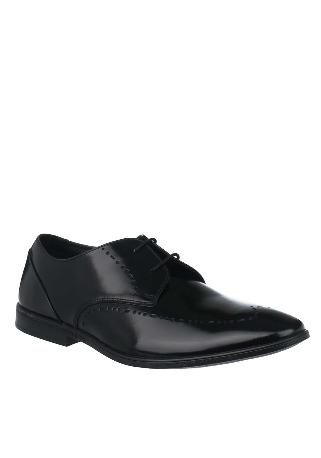 Clarks Mens Brampton Limit Leather Shoes, Black