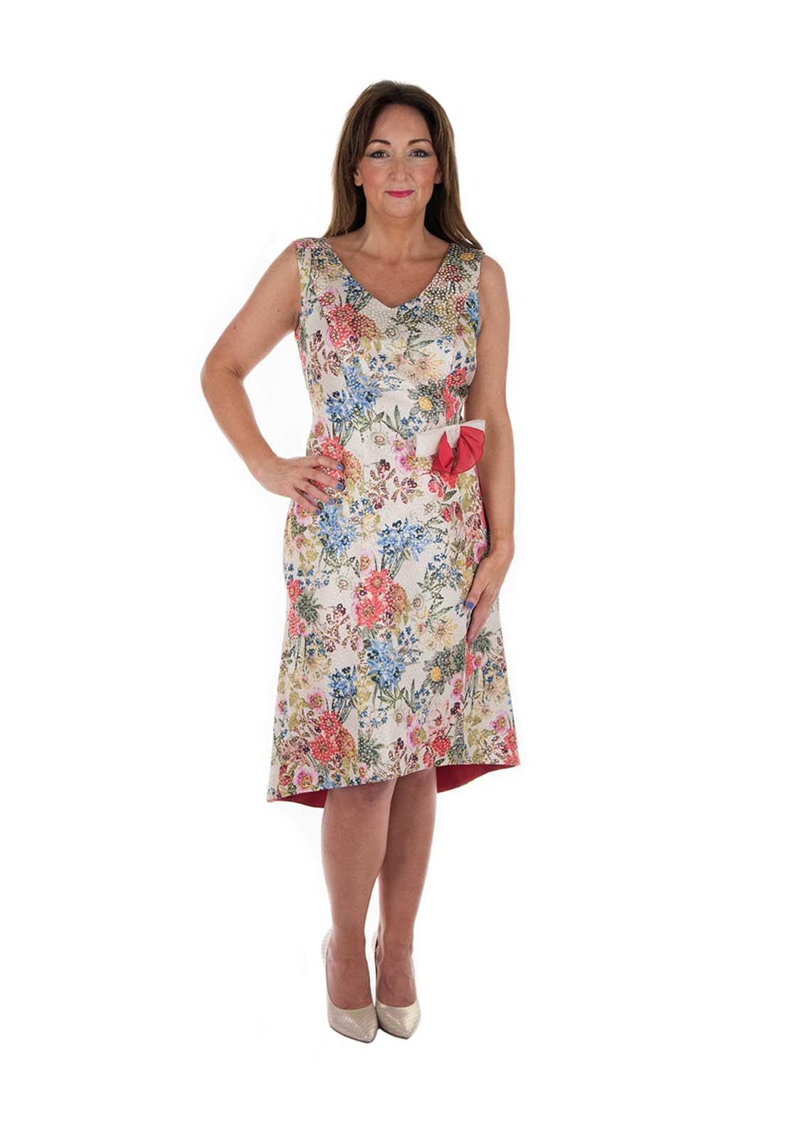 Carmen Melero Floral Print Dress , Multi-Coloured