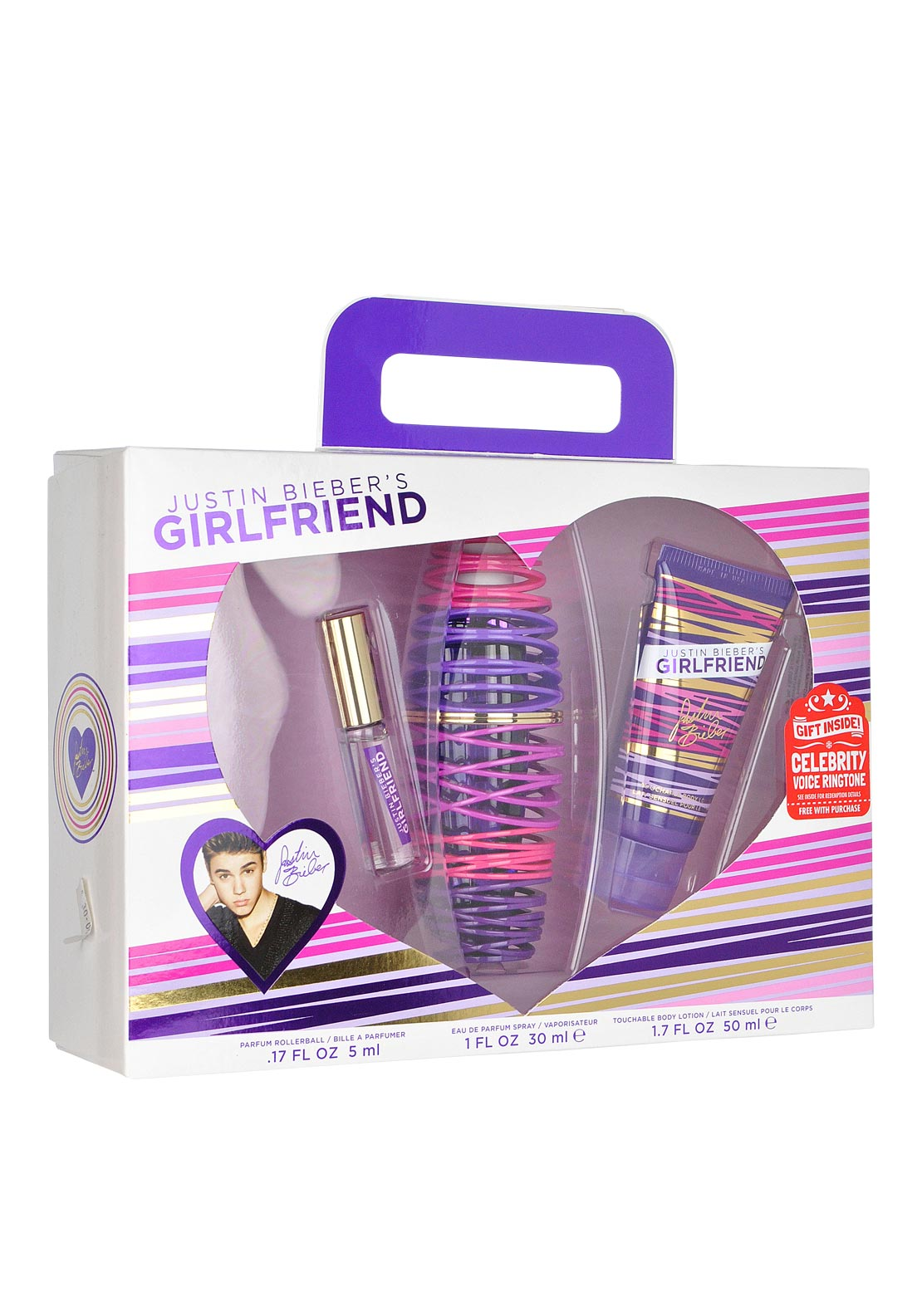 Justin Bieber Girlfriend Eau De Parfum Gift Set for Women, 30ml