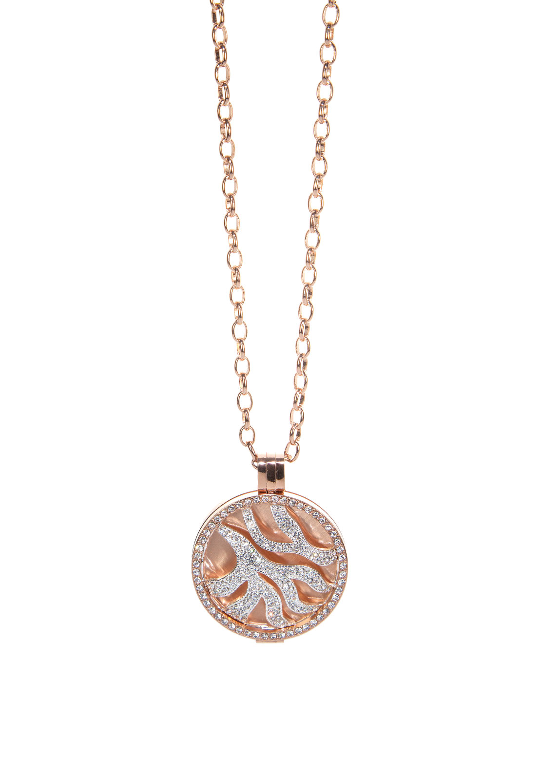 Absolute Jewellery Pave Coin Long Necklace