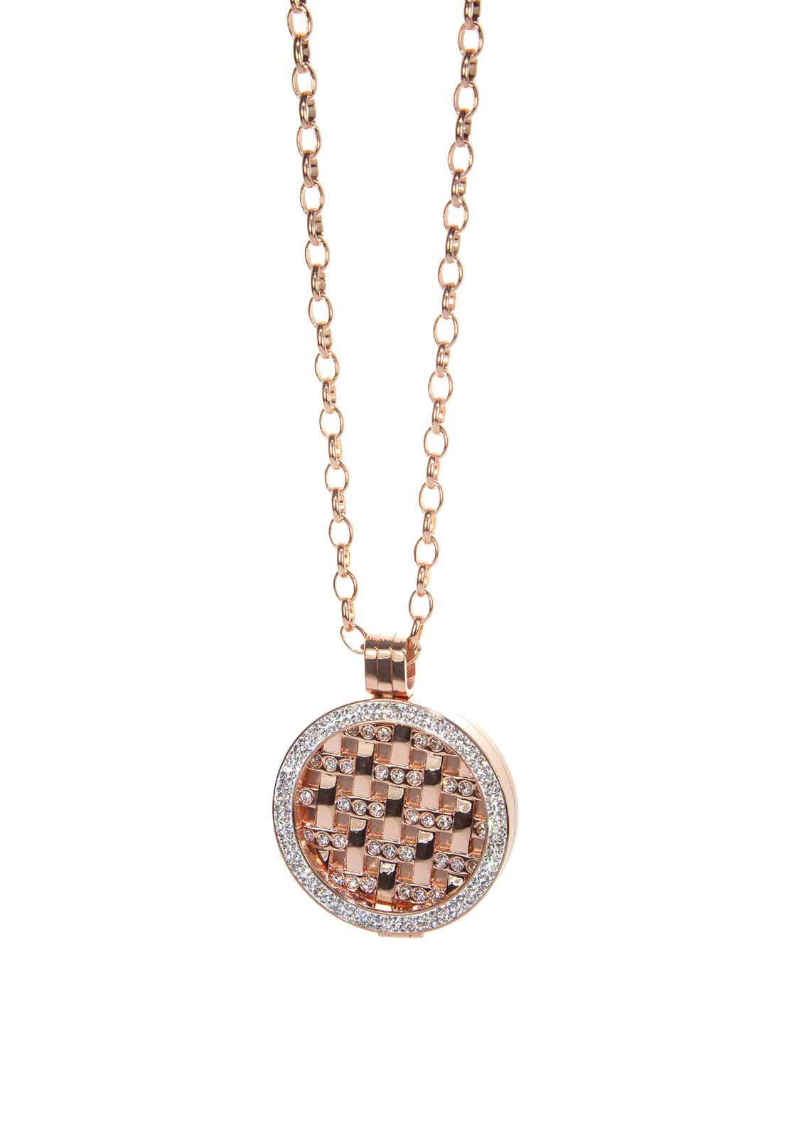 Absolute Jewellery Grid Coin Long Necklace