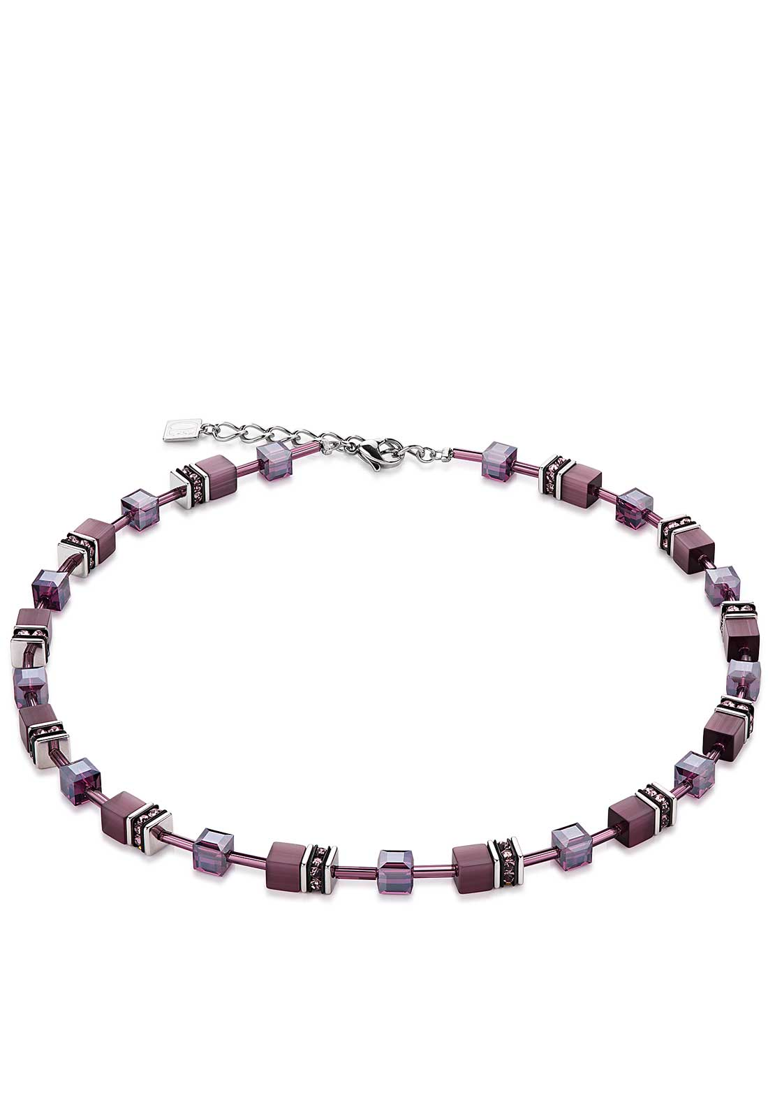Coeur de Lion Geo Cube Necklace, Purple