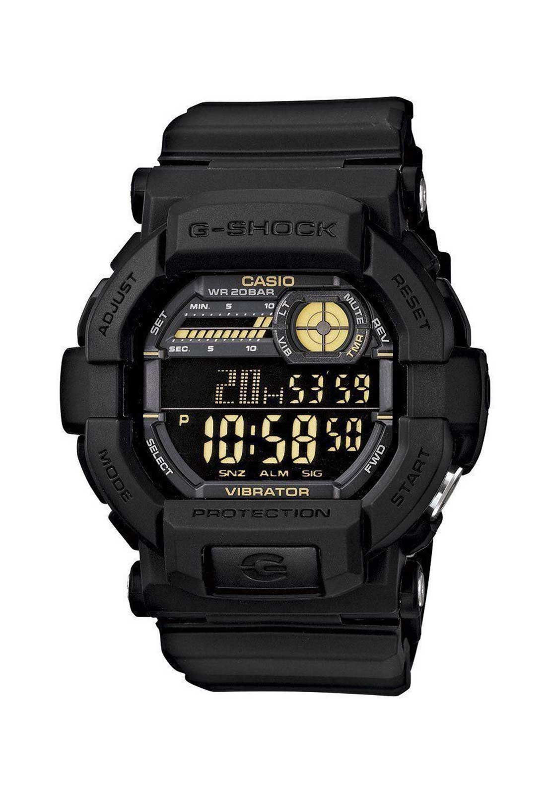 Casio Mens G Shock Alarm Chronograph Watch, Black