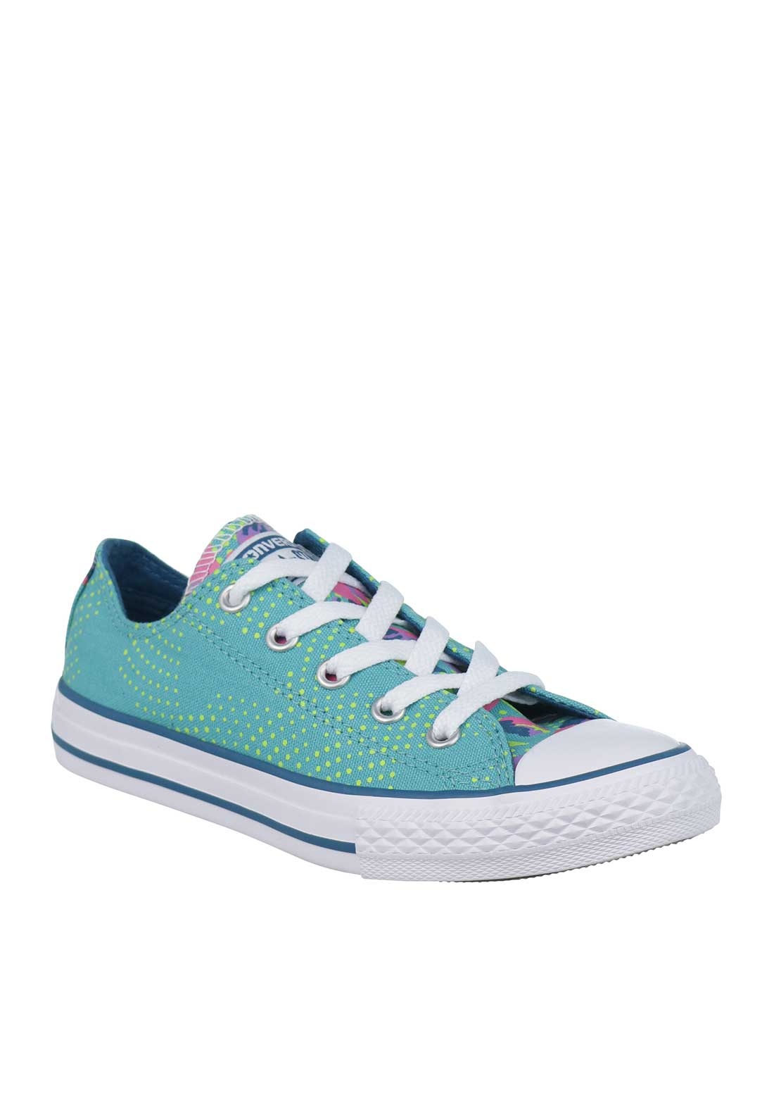 Converse Girls All Star Printed Trainers, Aqua