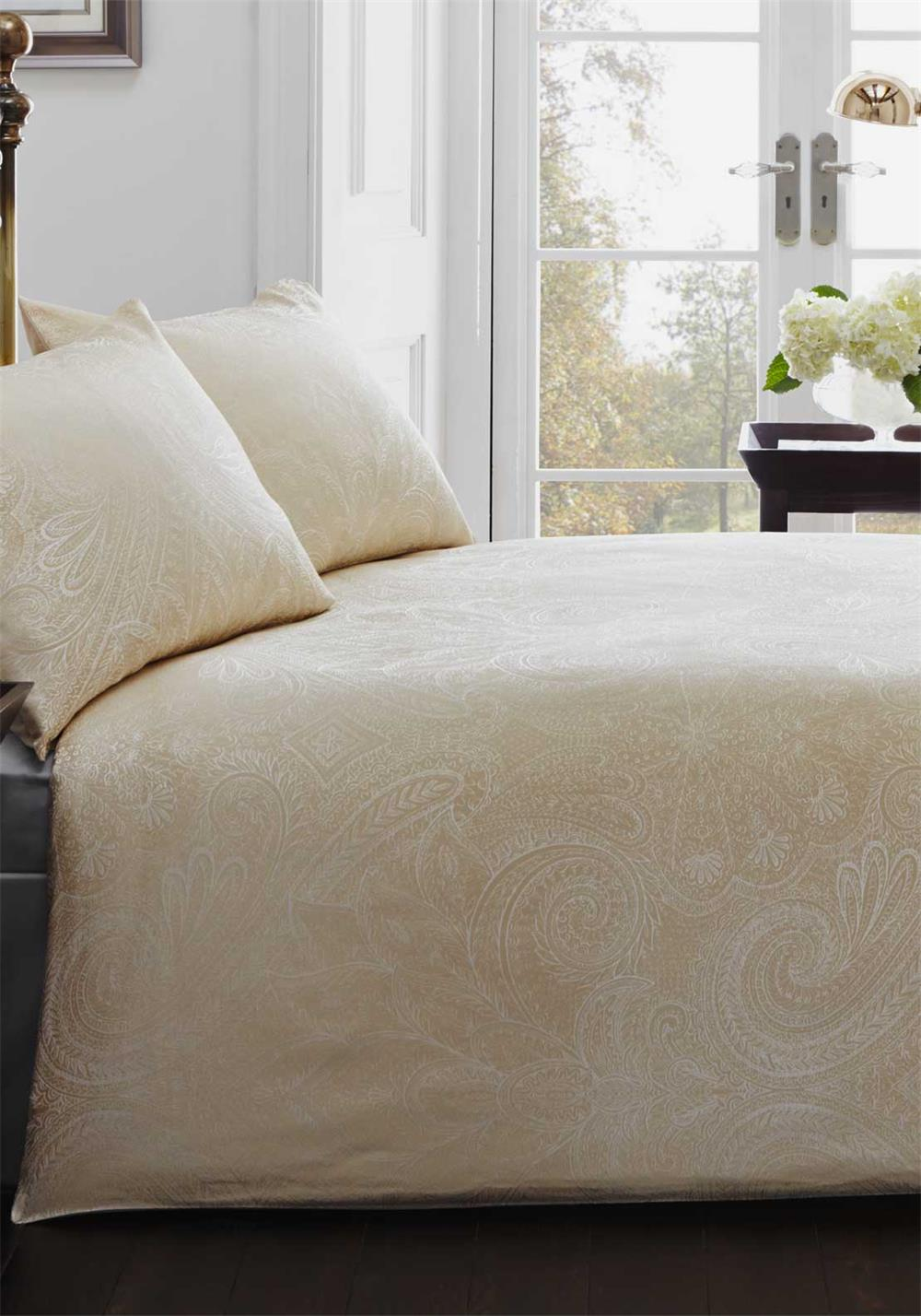 Country Classics Linden Luxury Woven Jacquard Duvet Set, Gold