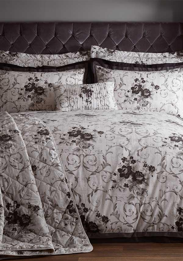 Country Classics Vichy Embellished Percale Duvet Set, Onyx