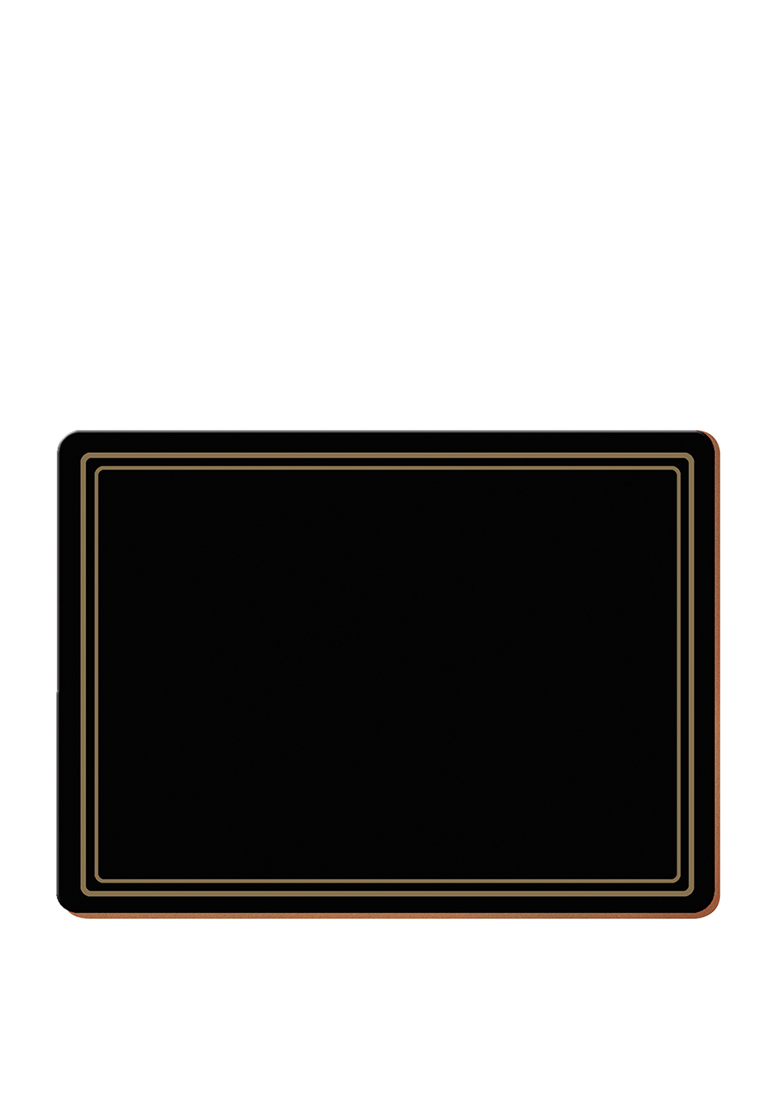 Creative Tops Classic Black Table Mats 6 Pack