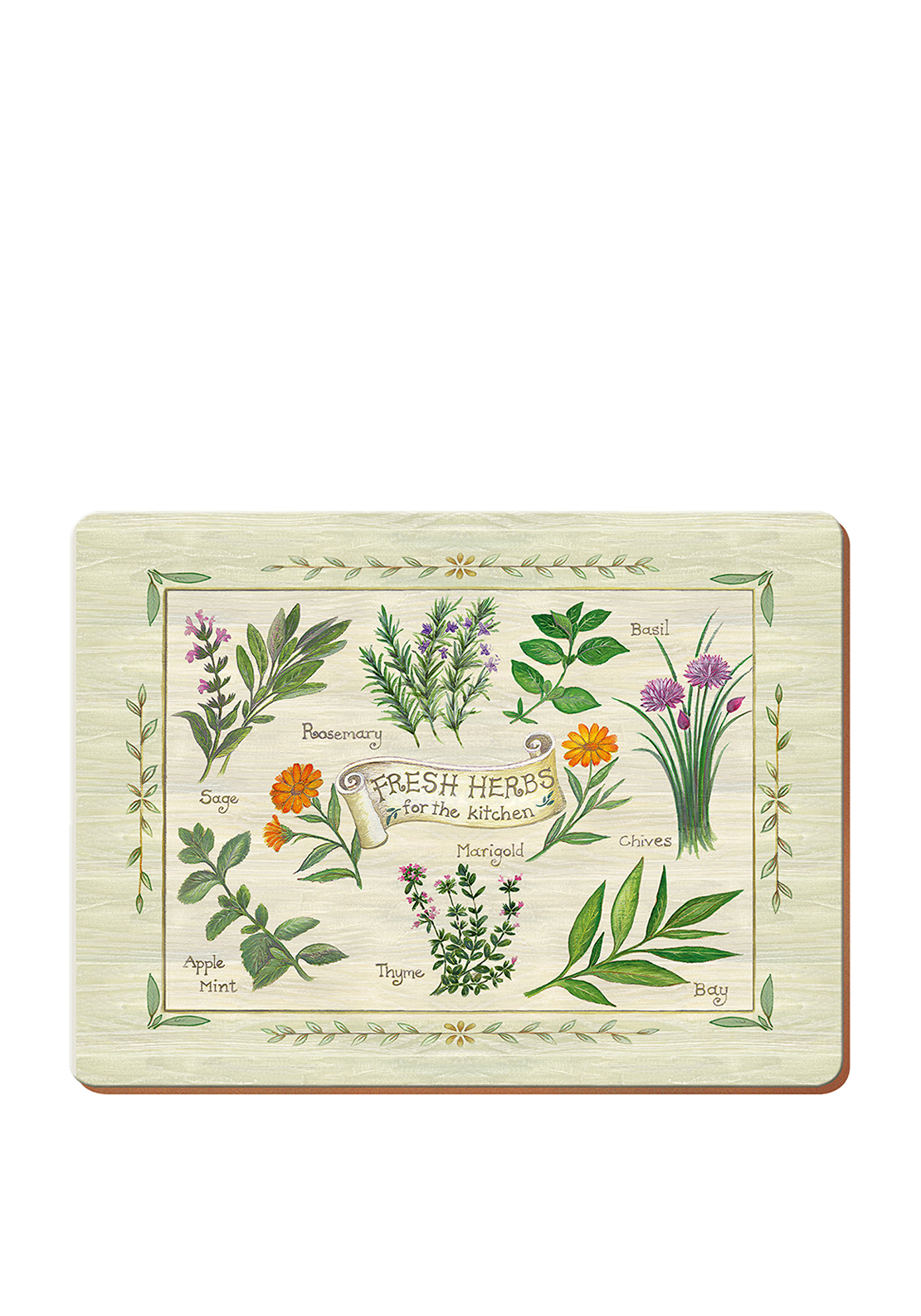 Creative Tops Fresh Herbs Table Mats 6 Pack