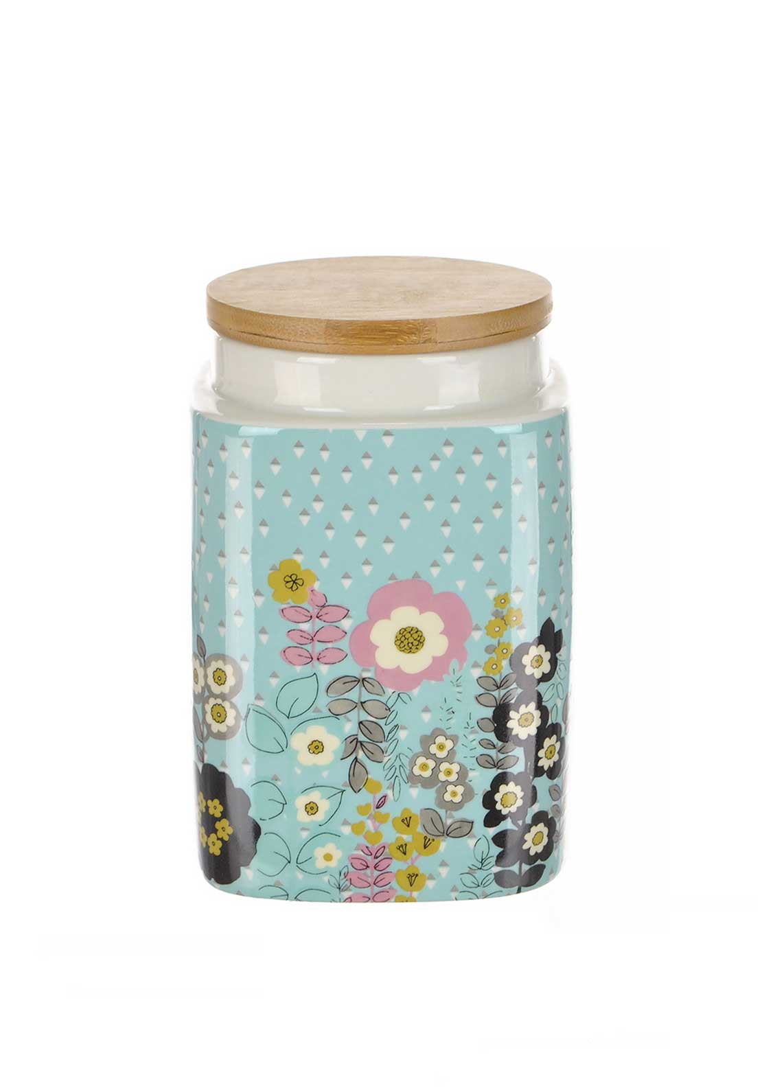 Katie Alice Pretty Retro Medium Stoneware Storage Jar, Pale Blue
