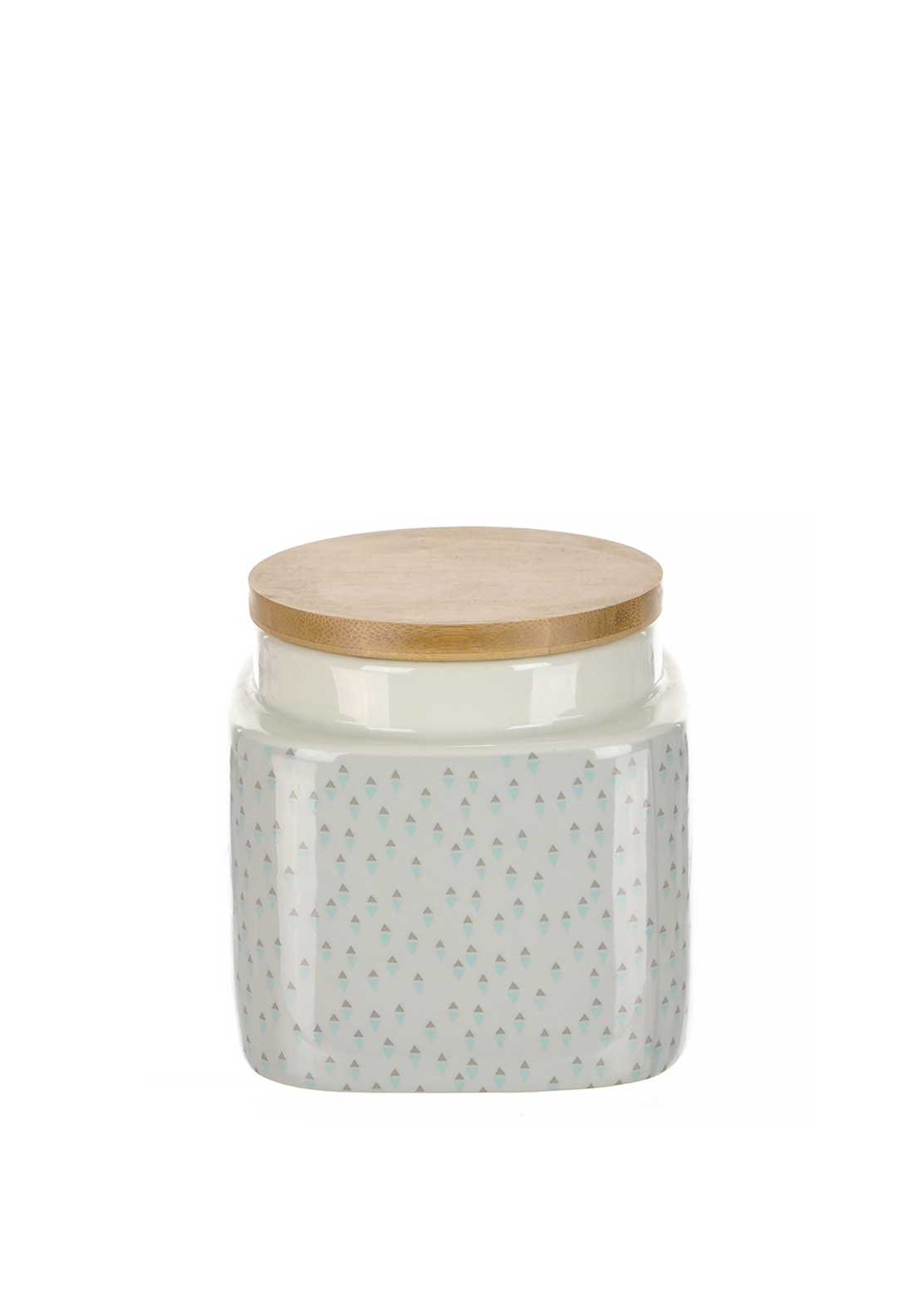 Katie Alice Pretty Retro Small Stoneware Storage Jar, Cream Multi