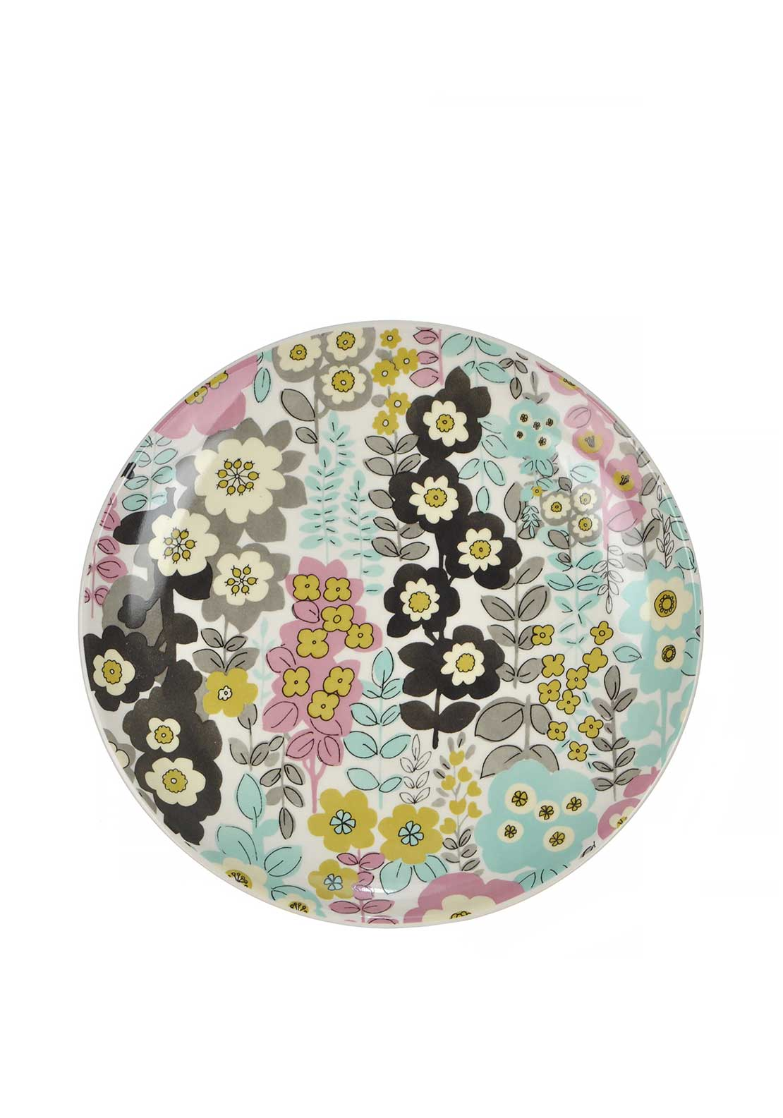 Katie Alice Pretty Retro Floral Print Side Plate, Multi-Coloured