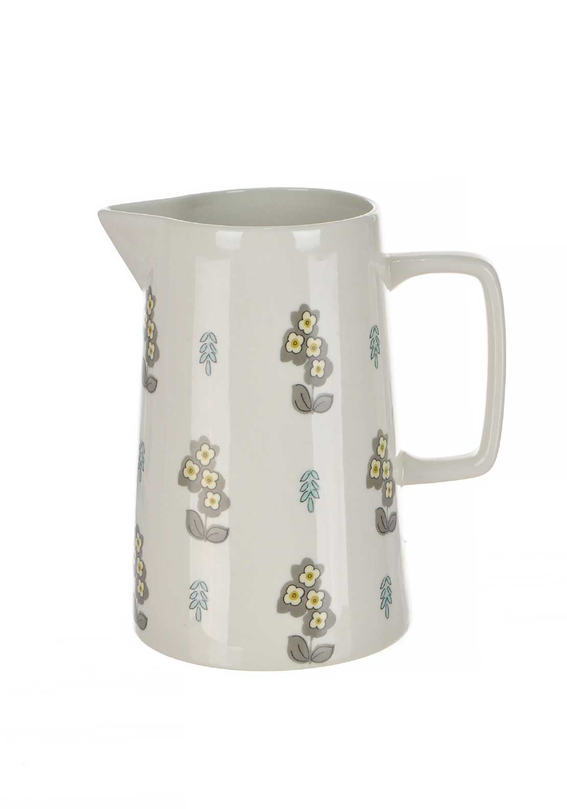 Katie Alice Pretty Retro Stoneware 1.2L Jug, Cream Multi