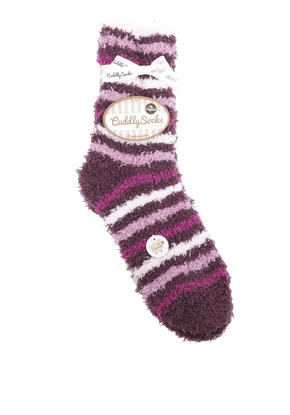 Taubert Striped Fluffy Socks, Purple
