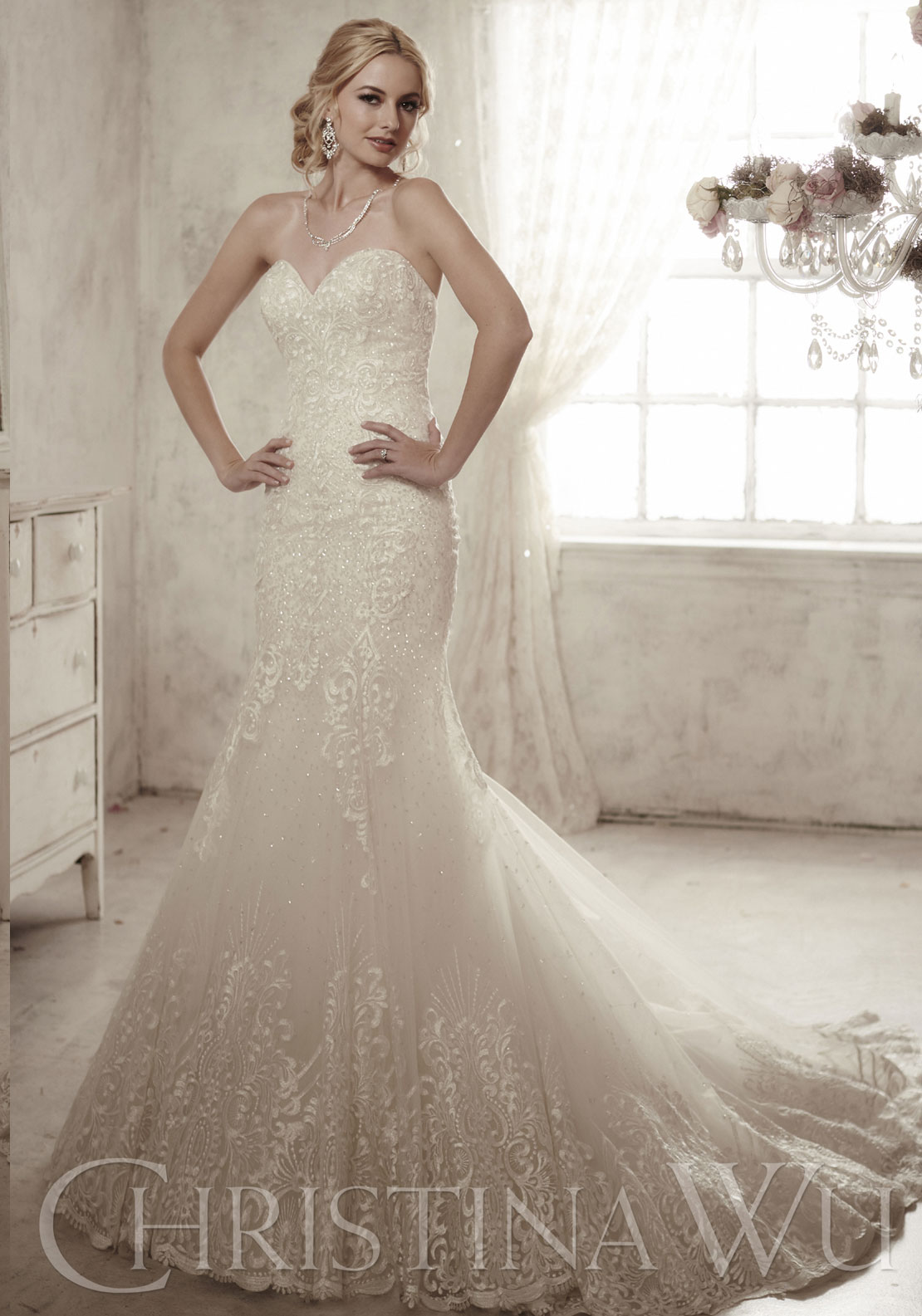 Christina Wu Wedding Dress 15602 UK Size 10