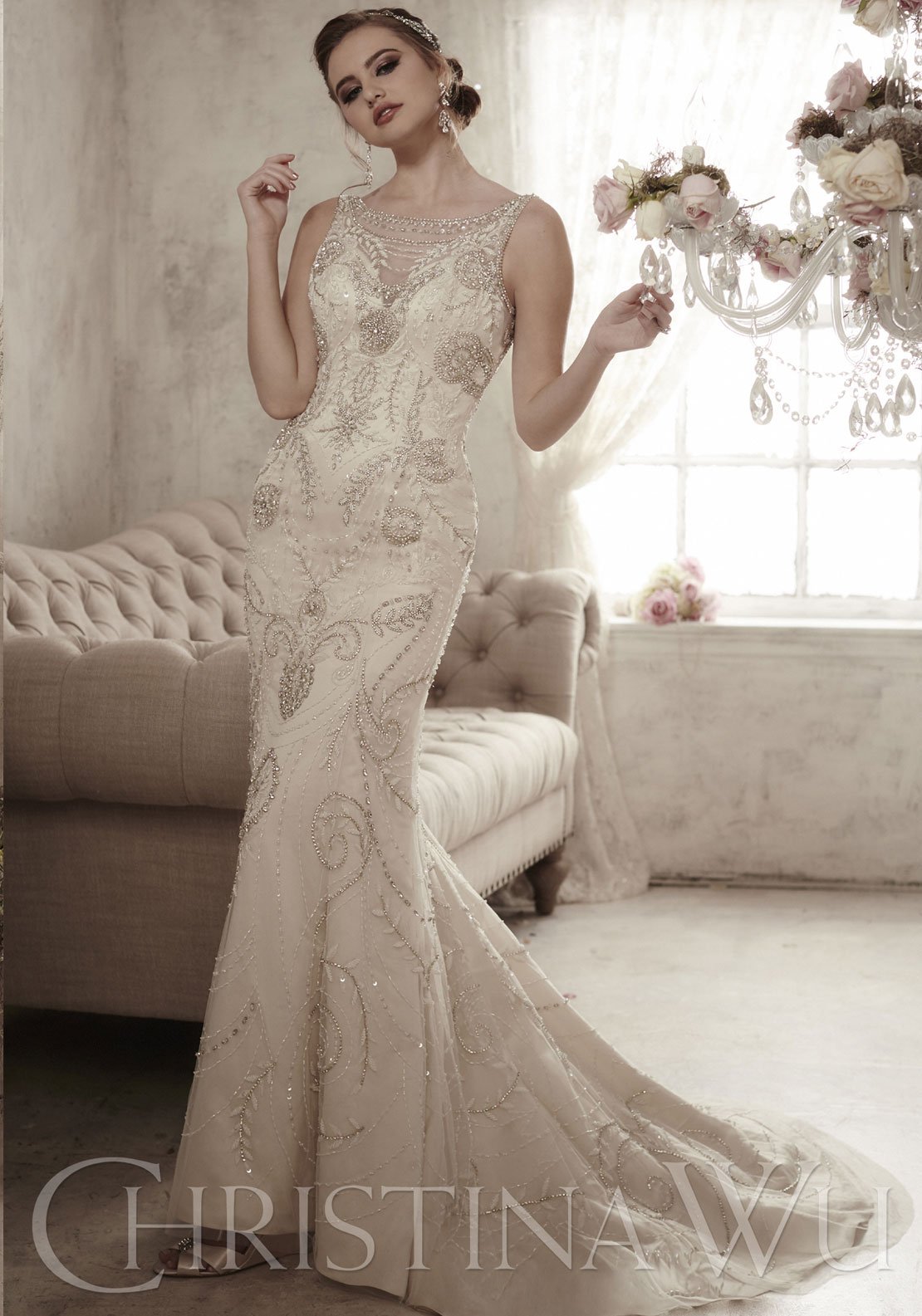 CHRISTINA WU BRIDAL 10S IVO