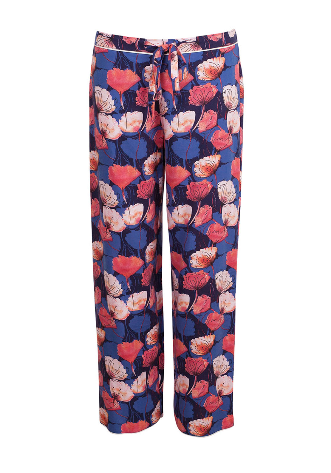 Cyberjammies Winter Flower Pyjama Bottoms, Dark Blue