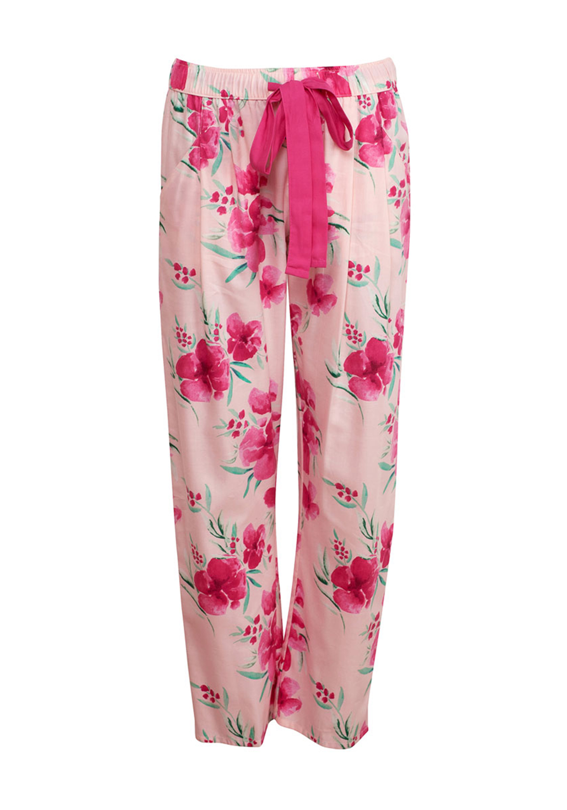 Cyberjammies South Pacific Floral Print Pyjama Bottoms, Pink