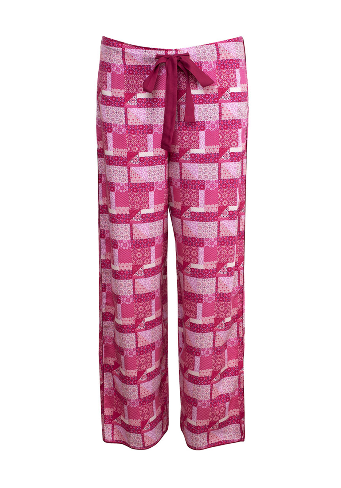 Cyberjammies Pretty in Pink Patchwork Print Pyjama Bottoms, Pink