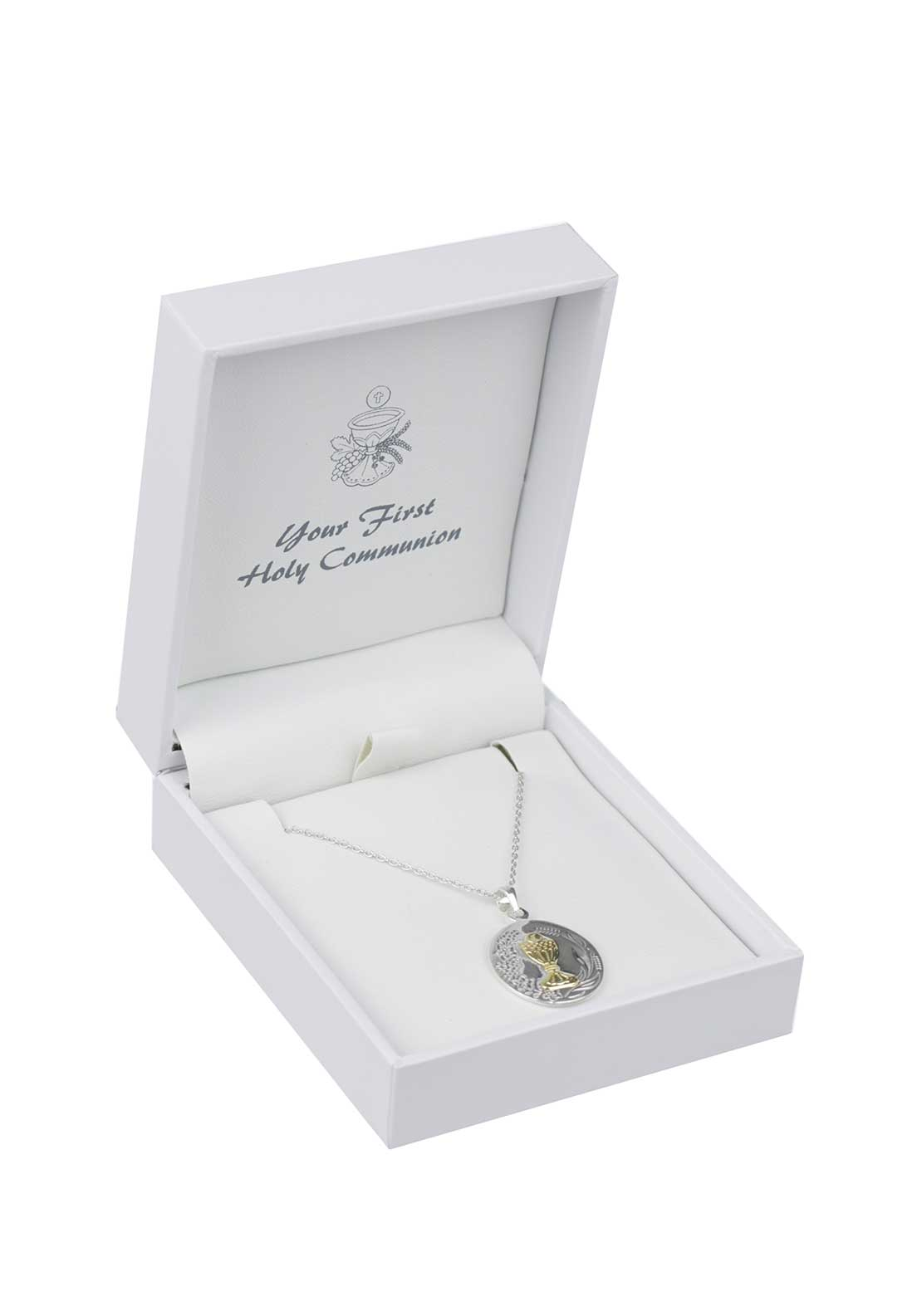D'Alton First Holy Communion Pendant Necklace, Silver
