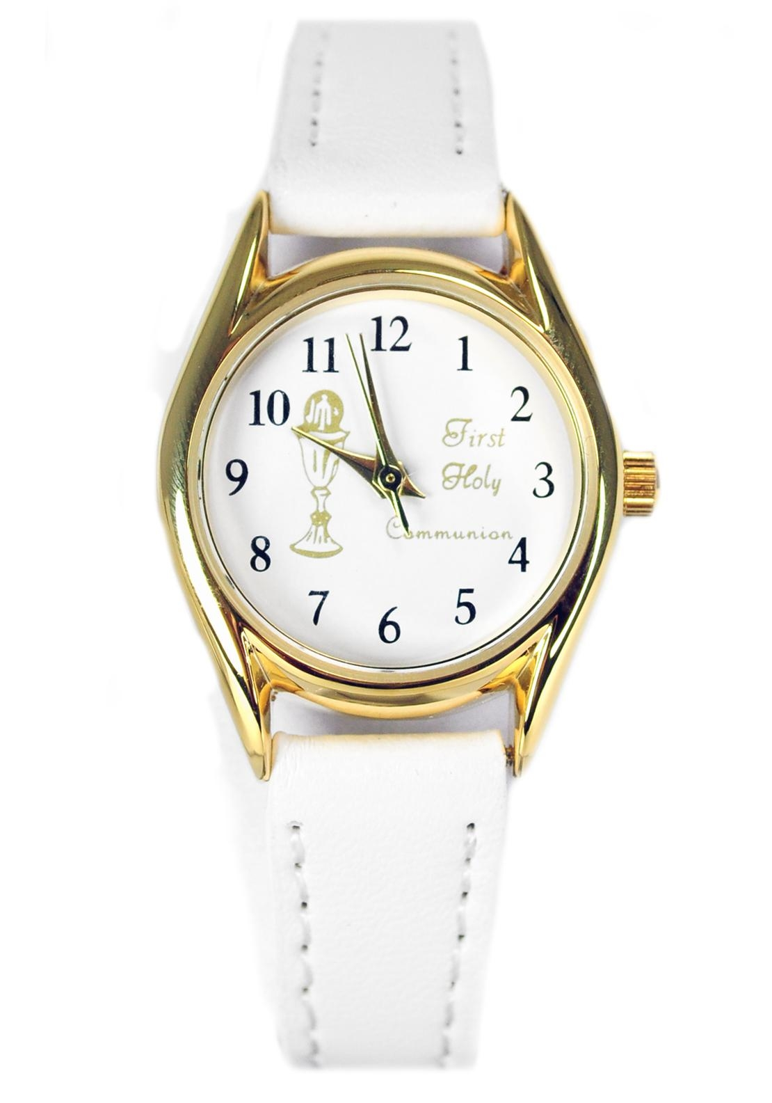 D'alton My First Holy Communion Watch, White and Gold