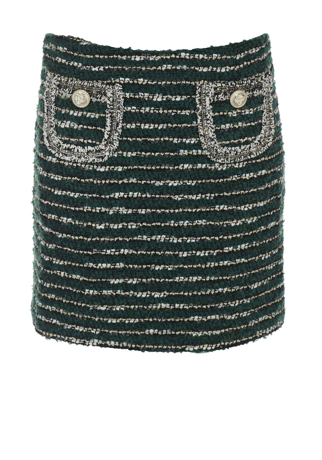 Darling Shinead Embroidered Striped Skirt, Green