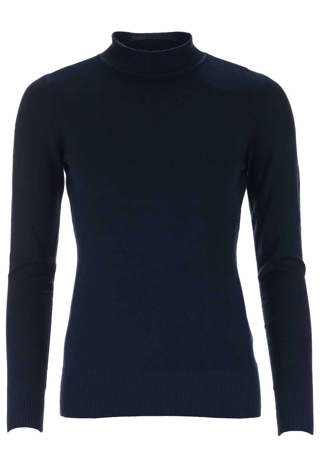 d.e.c.k. by Decollage High Neck Jumper, Navy