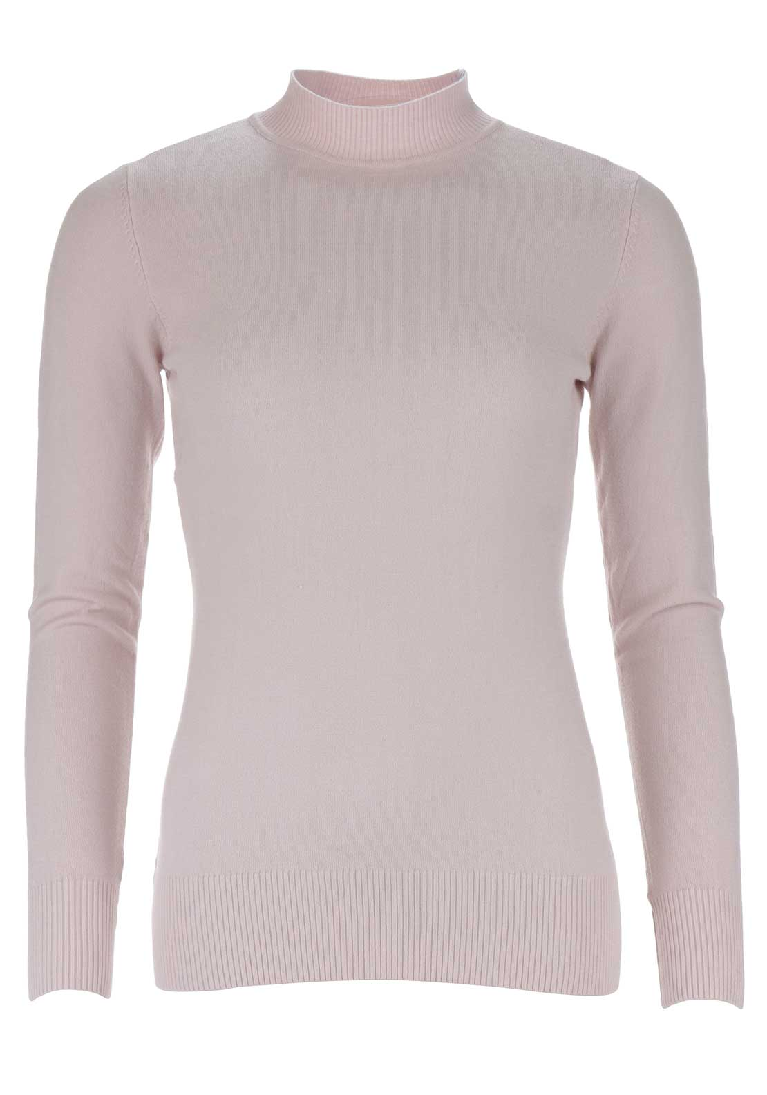 d.e.c.k. by Decollage High Neck Jumper, Pink