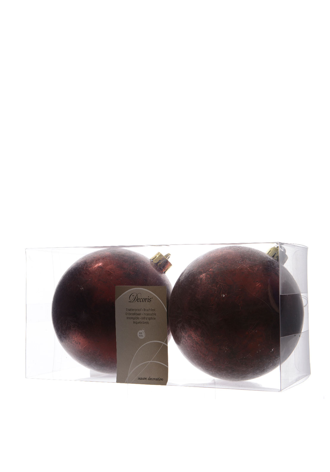 Christmas Tree Red Baubles Decorations Large 2 Pack